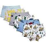 Adorel Garçon Boxers sous-vêtements Pur Cotton Paquet de 6 Banane 6-7 Ans (Taille Fabricant: 140)
