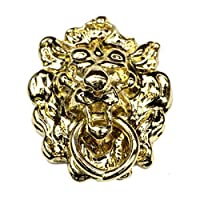 MyTinyWorld Dolls House Miniature Brass Lions Head Door knocker
