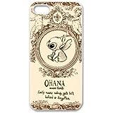 iPhone 4/iPhone 4S, coque en Gel TPU/, Custom Coque en TPU pour iPhone 44G Coque arrière Motif Lilo & Stitch