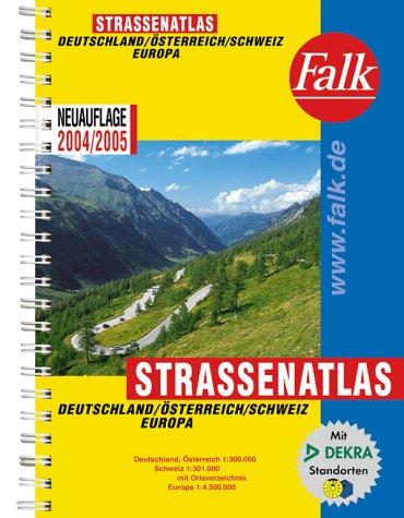 Falk Straßenatlas Deutschland, Österreich, Schweiz, Europa 2004/2005
