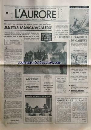 AURORE (L') [No 10225] du 01/08/1977...
