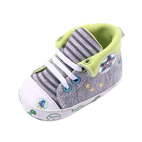 JERFER Babyschuhe Baby Mädchen oder Jungen Canvas Schuh Sneaker Rutschfest weiche Sohle Kleinkind...