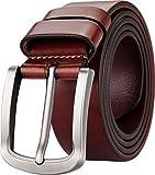 Blasea Ledergürtel Freizeit Jeansgürtel Herren Gürtel 5968 Braun 105cm
