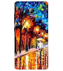 Chiraiyaa Designer Printed Premium Back Cover Case for Lenovo Vibe P1 (painting water real) (Multicolor)