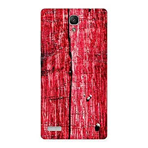 Red Wood Fenced Back Case Cover for Redmi Note