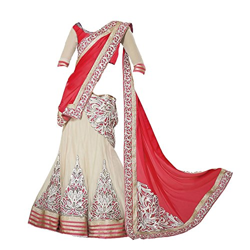 Purva Art Girls New Orange Semi-Stitched Faux Georgette Lehenga Choli (Orange_Color_Lehenga_Choli_For_8 to...