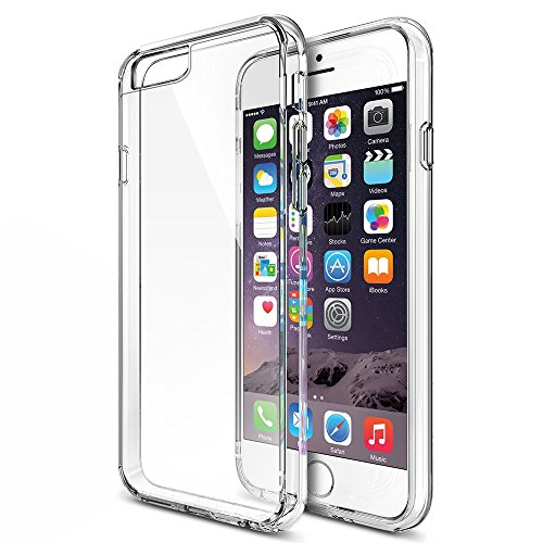 MTT Non Slip Transparent iPhone 6S / 6 Case - Crystal Clear Transparent with Multi Layer Bumper Cushion Case - Perfect Non Slip Grip and Corner protection with TPU (Transparent)