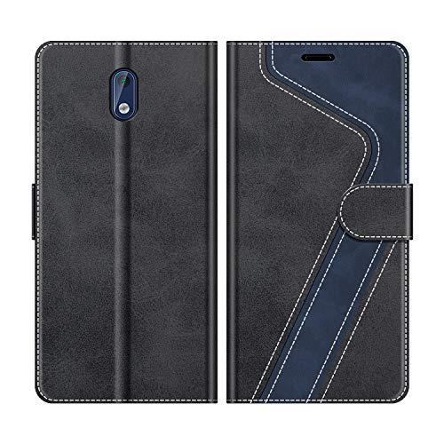 MOBESV Handyhülle für Nokia 3 Hülle Leder, Nokia 3 Klapphülle Handytasche Case für Nokia 3 Handy Hüllen, Modisch Schwarz