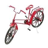 Sourcingmap® Aluminiumlegierung Vintage Stil Tisch Deko handgemacht Fahrrad Modell rot DE