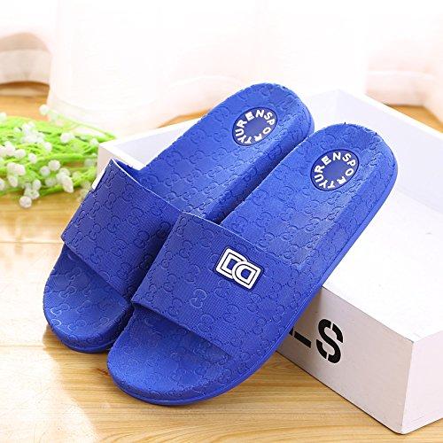 amanti delle pantofole a casa le pantofole, antiskid estate plastica spessa base,41 mei hong 40 blue