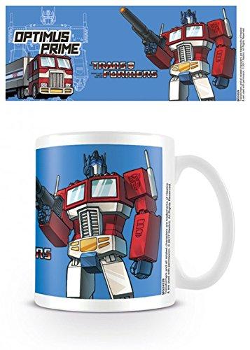 Set: Transformers, G1, Optimus Prime Foto-Tasse Kaffeetasse (9x8 cm) Inklusive 1x 1art1® Überraschungs-Sticker