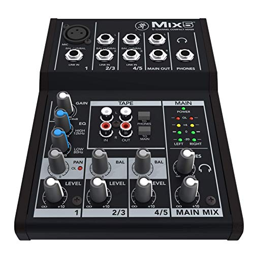 Mackie Mix 5 Compact 5 Channel Mixer
