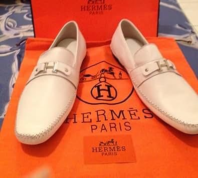 Hermes , Mocassins pour homme blanc 45