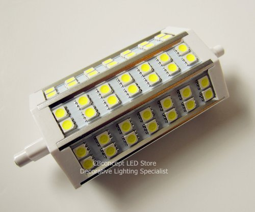 CBConcept? R7S J118 118mm 42 SMD5050 LED 110V 120V 220V Floodlight Replacement Lamp - Warm White - 10W 780lm 85-265V AC by CBconcept