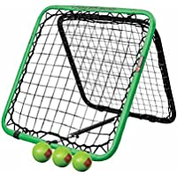 Crazy Catch Upstart Sports - Red de entrenamiento (incluye 3 pelotas, tamaño: 79 x 79 cm)