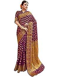 Aarti Apparels Women's Designer Kanjivaram Silk Saree_DANGAL3-5507_Purple