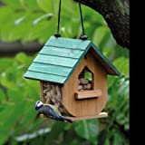 Holz Vogelhäuschen / Vogelfutter Haus / Vogelfutterhaus ca. 20x21cm, Vogelhaus zum Hängen und Stellen