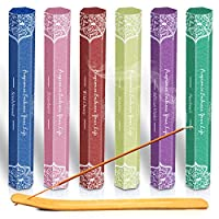 LA BELLEFÉE Incense Sticks 120 Sticks, Set of 6 - Boxes 41gms Each, Sandalwood, Patchouli, African Violet, Strawberry, Jasmine, Wild Cherry Perfect for Yoga, Aromatherapy, Relaxation, Meditation