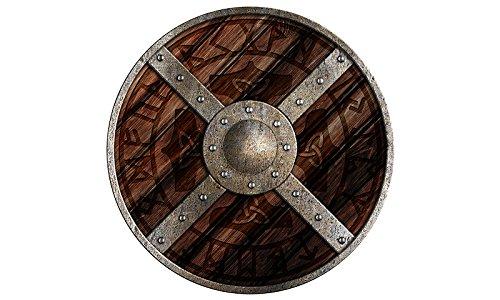 Holzspielerei 73804-3 - Rundschild Odin (Realistische Wikinger Kostüm)