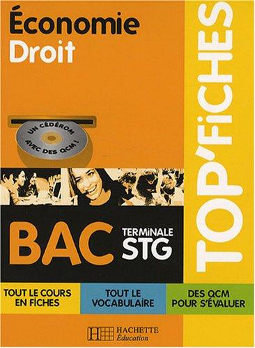Economie Droit BAC Tle STG (1Cédérom) par Alain Lacroux, Christelle Martin-Lacroux