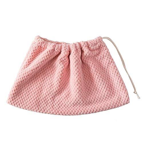 YUELANG 1 STÜCK Flanell Mopp Tuch Abdeckung Multifunktions Besen Mopp Ersatz Tuch Hause Tragbare Umweltfreundliche Reinigung Lappen (Color : Pink) -