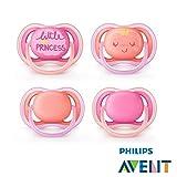 Philips Avent ULTRA AIR Schnuller 2018 Neuheit//6-18 Mo//4er Set Princess//inkl. 2 Sterilisiertrasportboxen