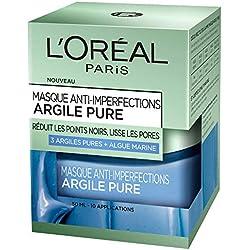 L'Oréal Paris - Masque anti-imperfections pour le visage - Argile pure - Anti-imperfections - 50 ml