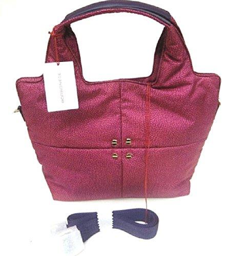 Borsa Corallo Borbonese Donna Shopping Tessuto Fantasia Classic Lavorata Esterno Corallo