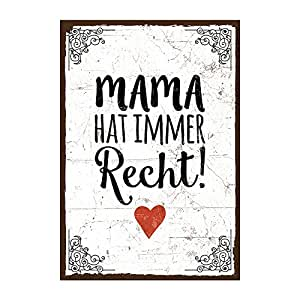 holzschild mit spruch mama hat immer recht. Black Bedroom Furniture Sets. Home Design Ideas