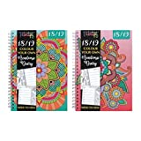 Tallon 3928- 2018/ 2019 A5 Academic Diary with Colour Therapy Patterns- Colour Sent at Random