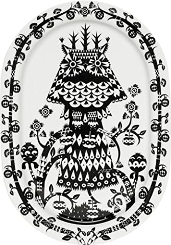Iittala Taika Black Oval Serving Platter 41cm