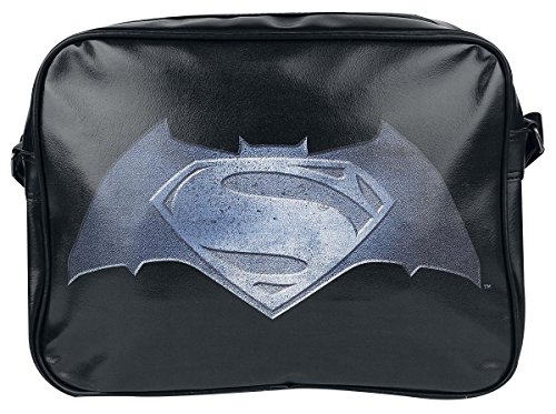 V ufficiale di Batman Superman Dawn di giustizia film Black Shoulder Messenger Bag nero