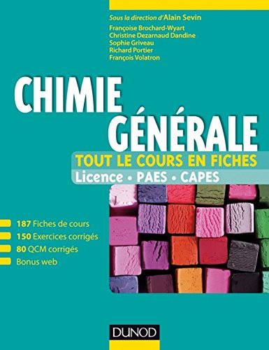 Chimie générale - Tout le cours en fiches (+ site compagnon) : Licence, PAES, CAPES
