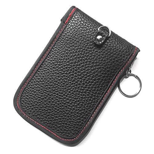 Autoschlüssel-Signalblocker-Etui, Lederschlüsseletui, Doppelring mit zwei Schlüsseln Signalblocking Shield Paket Blockierung von Wifi/GSM/LTE/NFC/RF/RFID Rf Shield