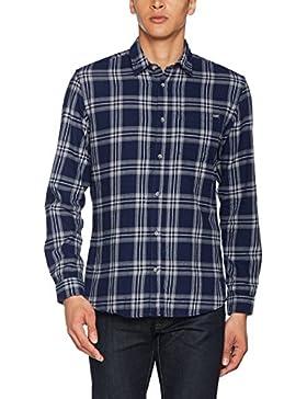 JACK & JONES Jorlarson Shirt LS, Camicia Uomo