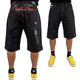Phat Farm Rasta Script Baggy Japan Raw Denim Jeans Shorts - Raw Jeans, 30W x Regulär