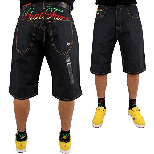 phat-farm-pantaloncini-uomo-raw-denim-w30