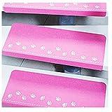Hkfv creativo unico luminoso design Nightlight tappetini Visual stair Carpet Pad anti-skid Staircase Safe Treads morbido, Poliestere, Pink, 55*22*4.5cm