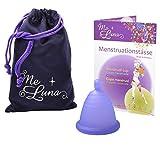 Me Luna Menstruationstasse Sport, Kugel, Blau-Violett, Größe Shorty XL