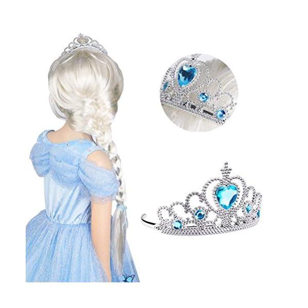 Vicloon 2 PCS Accessori per Vestire Principessa con Diadema,Bacchetta Magica per Ragazze di 3-10 Anni … 3 spesavip