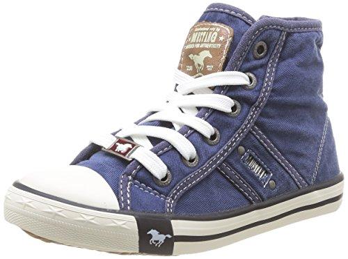 Mustang 5803503 Unisex-Kinder Sneaker Blau (841 jeansblau)