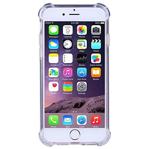 iPhone Case Cover Housse de protection en TPU souple et résistant aux chocs pour iPhone 6 6S Plus ( Color : Clear ) Clear