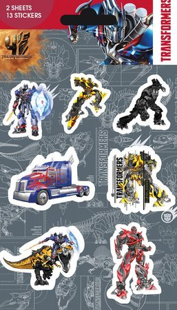 Transformers 4 Sticker Pack, 11x18 cm