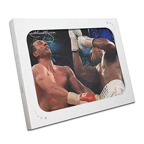 Exclusive Memorabilia Boxing Foto von Anthony Joshua unterzeichnet: der Klitschko Punsch. In Geschenkbox