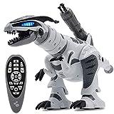 BeesClover Kinder RC Intelligentes Dinosaurier-Modell Elektrische Fernbedienung Roboter mechanisch mit Musiklicht Spielzeug