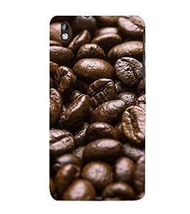 PrintVisa Coffee Bean 3D Hard Polycarbonate Designer Back Case Cover for HTC Desire 816 :: HTC Desire 816 Dual Sim :: HTC Desire 816G Dual Sim