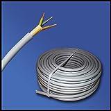 Installationskabel NYM-J 3x2,5 mm² - Kunststoff Installationsleitung - 15m / 15 m / 15 meter -PVC - grau