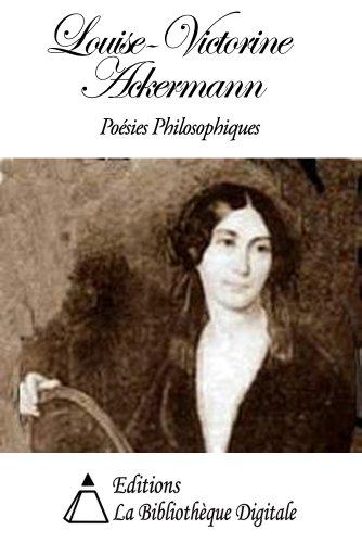 louise ackermann poésies philosophiques