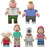 K'Nex Family Guy Complete Set of Peter, Chris, Stewie, Lois, Brian & Meg Buildable Figures by K'Nex Building Worlds Kids Love