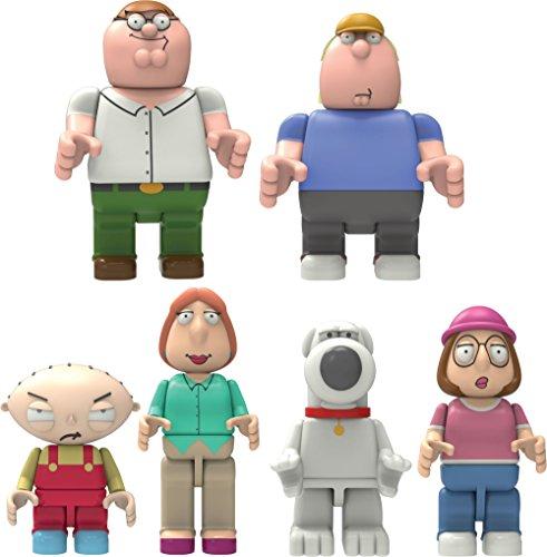 K'Nex Family Guy Complete Set of Peter, Chris, Stewie, Lois, Brian & Meg Buildable Figures by K'Nex Building Worlds Kids Love